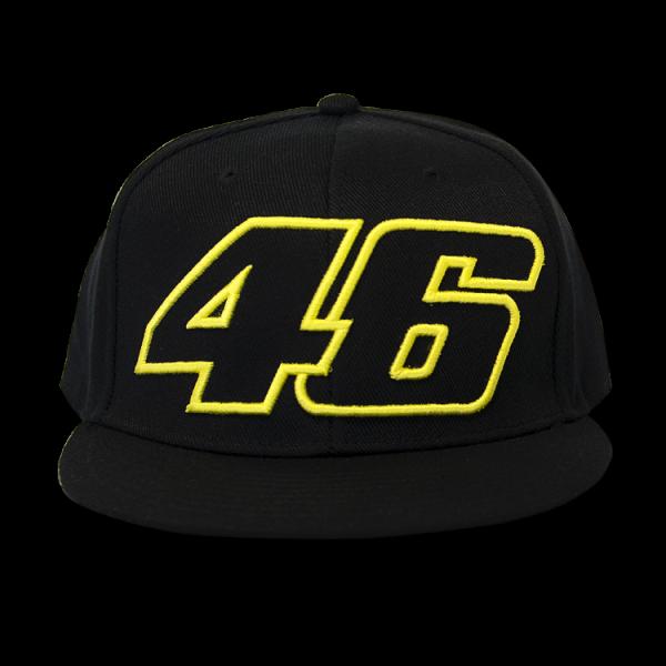68db0272332 Valentino Rossi 46 Flat Visor Paddock Cap Black • Ivors Motorcycles