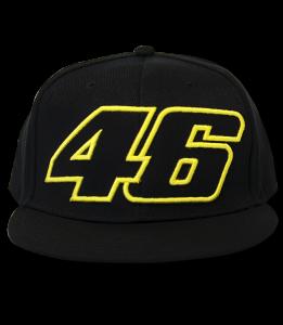7efbb9f0365d43 Valentino Rossi 46 Flat Visor Paddock Cap Black ...